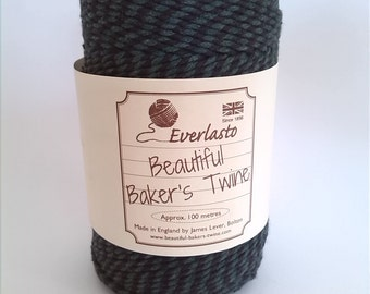 Black & Green Bakers Twine ~ 100m Cotton Twine