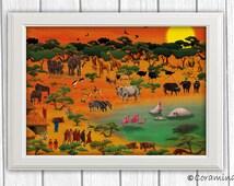 "Artprint ""Serengeti"" limited edition"