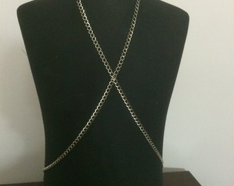 Men's body harness, body necklace, Men's Festival Harness Necklace Body Chain, *25*