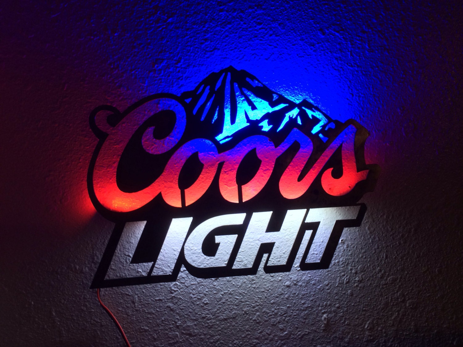 Coors Light Steel Bar Sign. Optional LED by TuffMuffCustoms