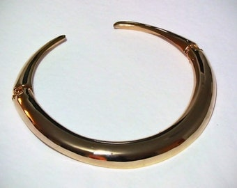 Gorgeous Vintage Gold Plated Hinged Collar Necklace