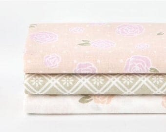 Lovable - Quarter Fabric Pack 3 Fabric 1 set - Sets for 3 each 45 X 55 cm