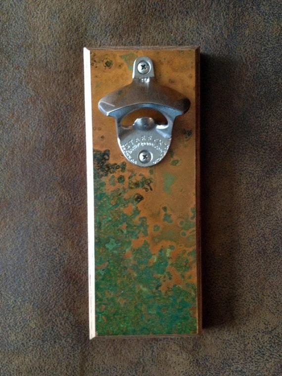 copper fridge mount magnetic bottle opener. Black Bedroom Furniture Sets. Home Design Ideas
