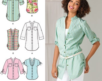 Simplicity Sewing Pattern 2255 Misses' Easy to Sew Tunic or Shirt