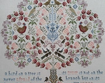 Heirloom Cross Stitch CHART ONLY :The Magpie Tree Stunning Cross Stitch By Maggie Gee Needlework