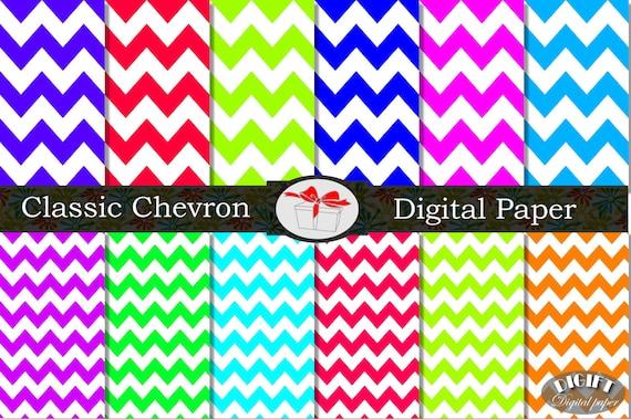 Chevron digital paper Printable chevron invitation Chevron decor Pink Chevron party decorations Rainbow chevron baby shower Blue chevron art