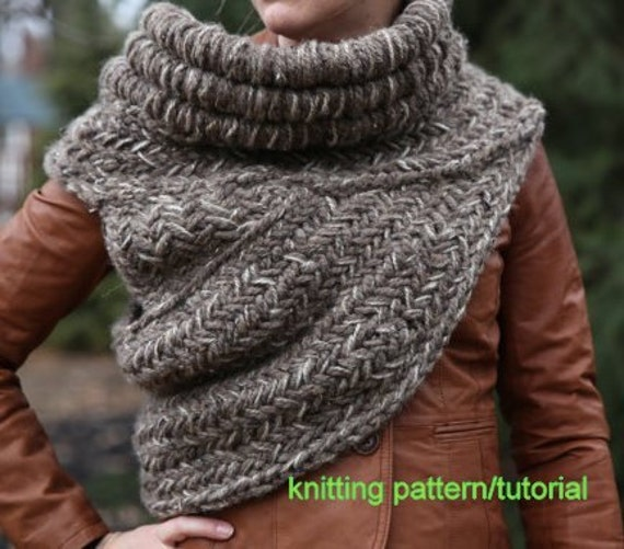 Katniss Inspired Cowl Knitting Pattern : KNITTING PATTERN TUTORIAL all adult sizes and colors Katniss