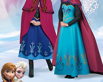Simplicity Pattern 1210 Disney Frozen Costumes for Misses'