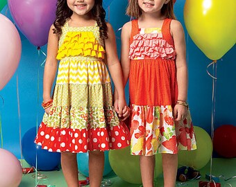 OUT of PrINT McCall's Pattern M7144 Toddlers'/Children's Dresses