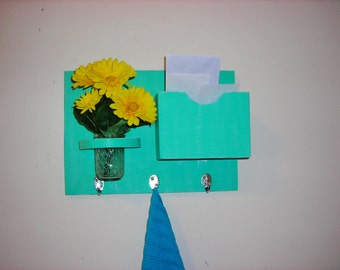 Mail sorter, key holder, flower holder