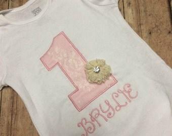Shabby Chic Birthday Onesie/Tshirt