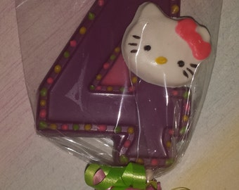 Inspired by Hello Kitty- Kitty face number lollipops-12