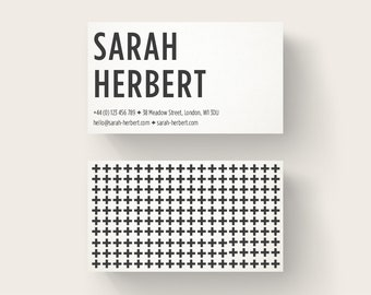 Bold Business Card Design, Black Business Card, Premade Calling Card, Unique Business Card, Customizable Design, Small Business Card