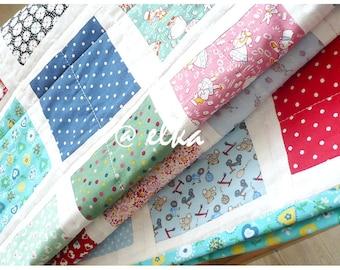 """Baby patchwork blanket  Kaleidoscope / Детское лоскутное покрывало """"Калейдоскоп"""""""