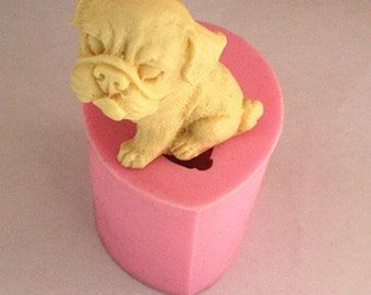 silicone dog mold - dog soap mold - nature mold - flower mold - candle mold - 040-005