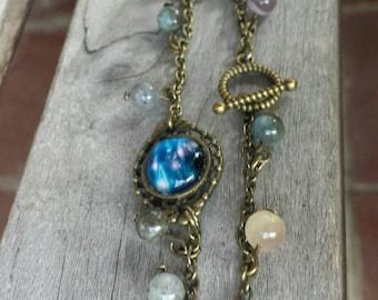 Celestial Bracelet, Nebula Jewelry, Universe Bracelet, Galaxy Bracelet, Celestial Jewelry, Gemstone Jewelry, Very Unique!