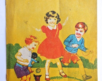 Walker Toy Book 'Out to Play' - 1940s / 1950s Children's Booklet by Renwick of Otley, England