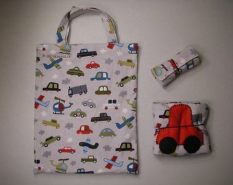Children's Activity Set - Kid Bag with Crayon Roll and Car Caddy