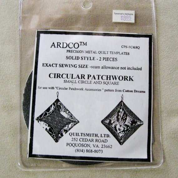 Ardco Metal Circular Patchwork Quilting Template Pattern Small