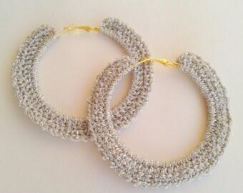 Crochet Big Hoop Earrings