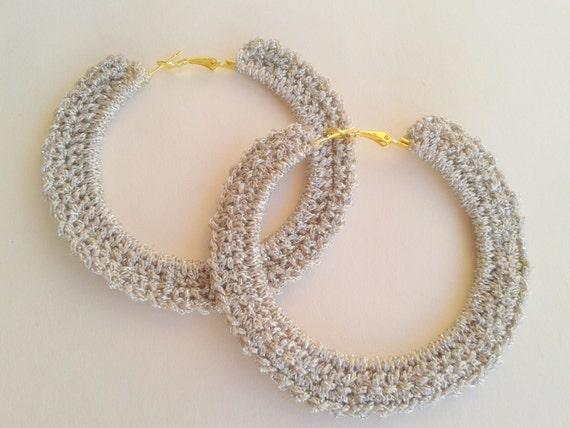items similar to crochet big hoop earrings on etsy