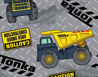 Tonka Truck Cotton Woven Fabric Listing is for 1 Yard