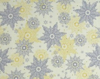 Quilting Treasures Metallic snowflakes-Cotton Woven 1 Yard