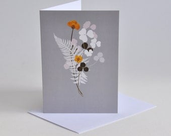 Flower Posy  Birthday cards, Thank you cards, Mothers Day cards, cards for Friends.