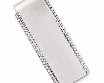 Engravable Solid Sterling Silver Money Clip Personalized Engraved Monogram Groomsmen Best Man Father Bride Business Christmas Gift CKLQQ44