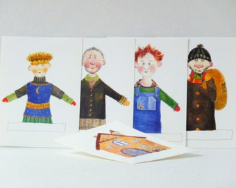 Sale invitations childrens birthday figurines postcards greeting card friends colorful post thief kasperle house gift