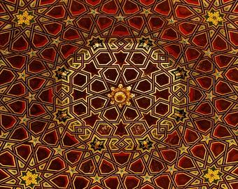 Mosaic, Architecture Photo, Fine Art Wall Decor, Architecture Wall Art, Travel Photography, Historic Architecture, Spain Architecture, Gift