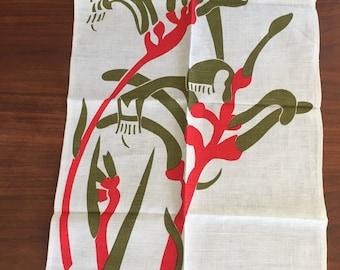 Vintage Kangaroo Paw Tea Towel