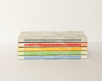 Bubble print covered Handmade Notebook - Choice of Colours - Travel Journal - Lined Pages