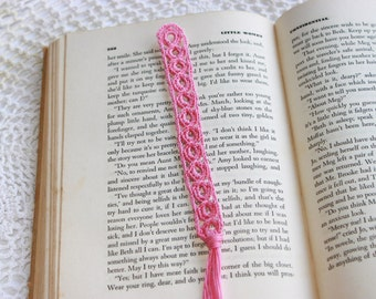 Single Crochet Bookmark, One Pastel Bookmarker, Mother's Day Gift