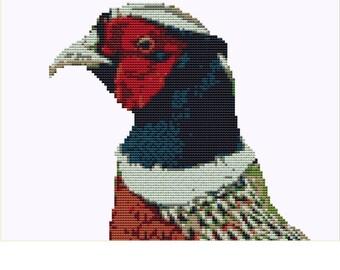 CROSS STITCH KIT - Pheasant 18cm x 17cm