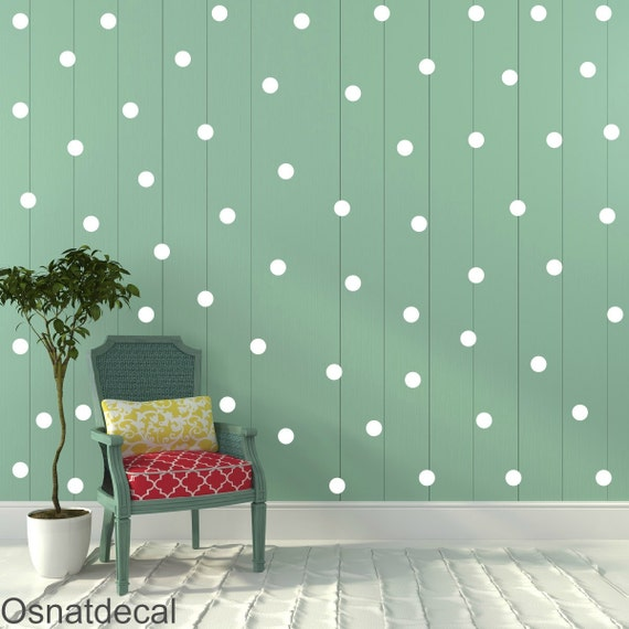 FREE SHIPPING Wall Decal Dots White Color .Larg Kit Contains: 208 . Wall Decal . Home Decor. Nursery Wall Decal Sticker Art Digital
