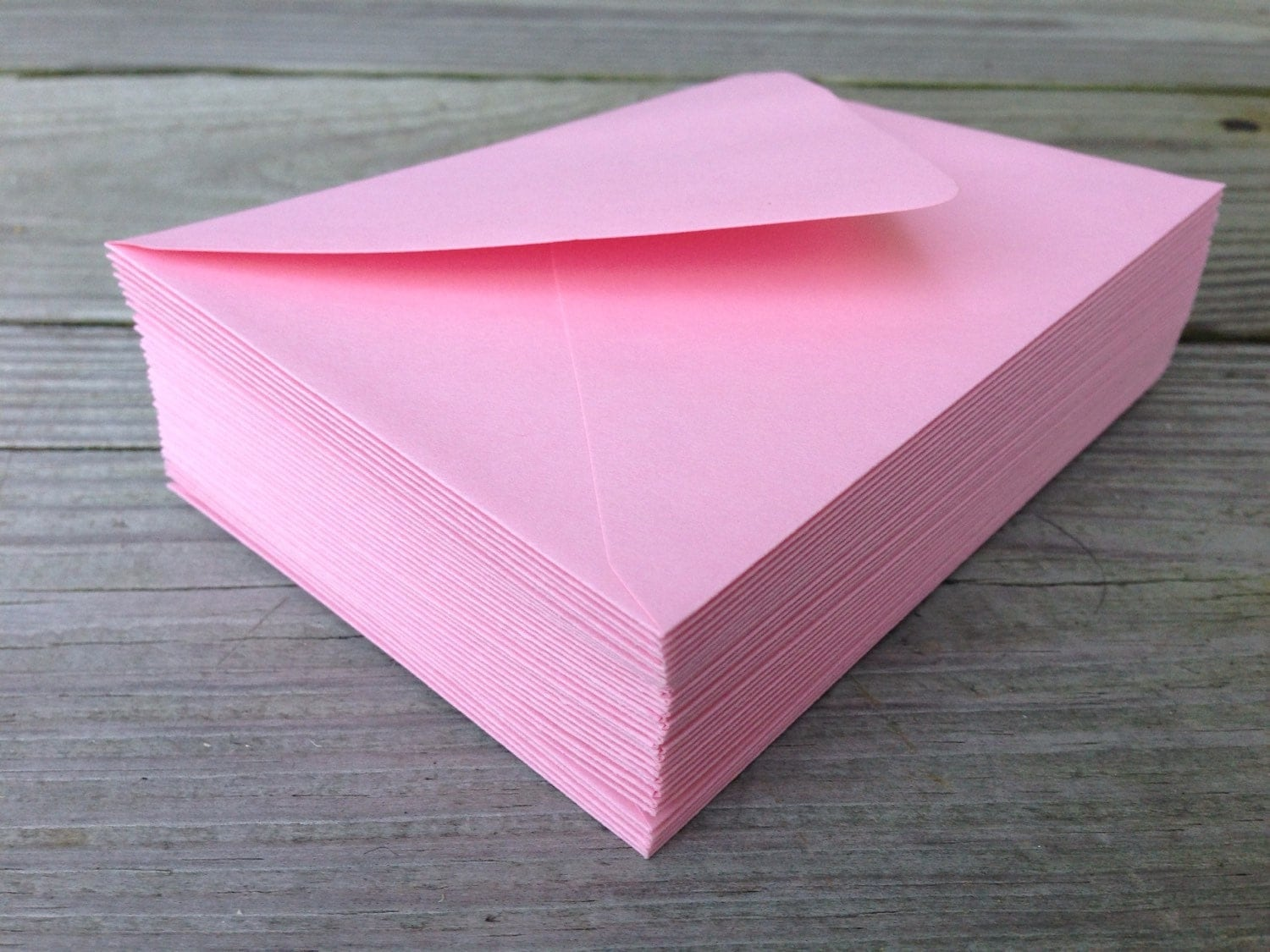 50 Pink Envelopes A7 5x7 Invitation Or A1 4bar Rsvp Pointed