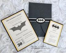 DIY Batman Wedding Invitation