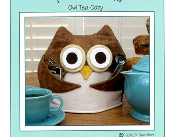 Owl Tea Cozy Pattern, Tea for Who ST-1007 Susie C Shore Designs, Owl Pattern, Owl Tea Cosy Pattern, Teapot Cover Pattern