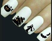 Halloween Nail Decal 20 Ghost Nail Art Water Slide Decals Fingernail Decal Haunting Nail Tattoos Nail Transfers