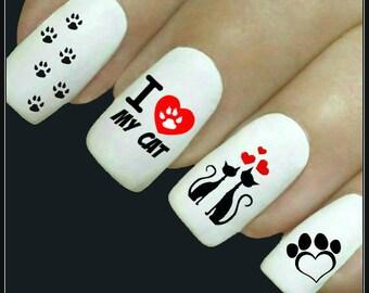 Cat Nails Etsy