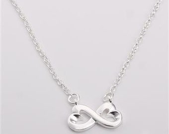 925 silver plated necklace Valentine infinity