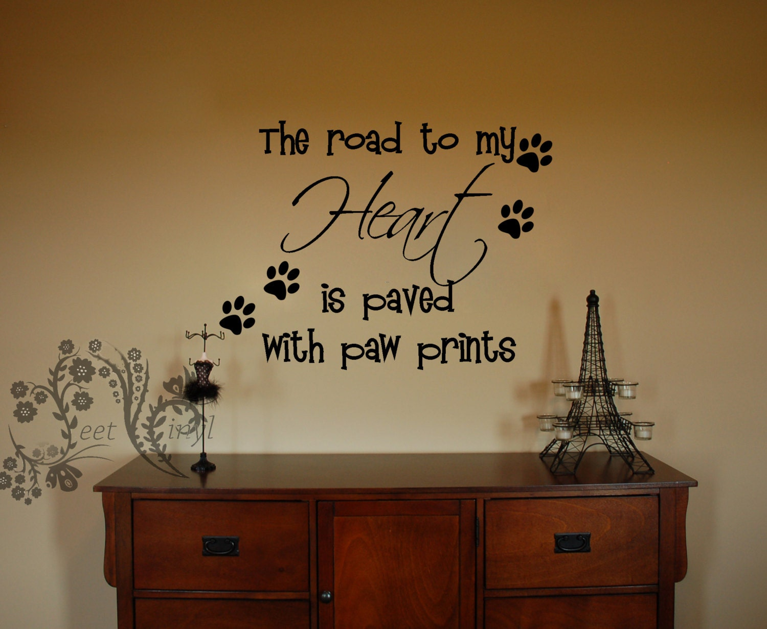The road to my heart is paved with paw prints family wall zoom amipublicfo Image collections