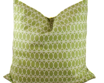 Green pillow cover, Throw pillow, Decorative pillow, Accent pillow, Modern pillow, Sham, 12x20, 16x16, 18x18, 20x20, 22x22, 24x24, 26x26