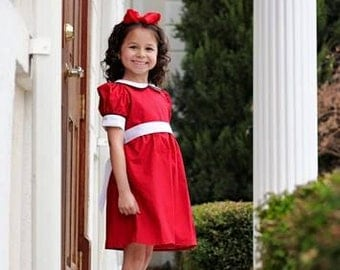 Annie Dress,  Little Orphan Annie Dress, Annie Costume, Annie outfit, Annie red dress