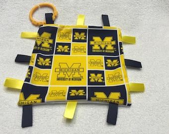 Michigan Wolverines Sensory Blanket