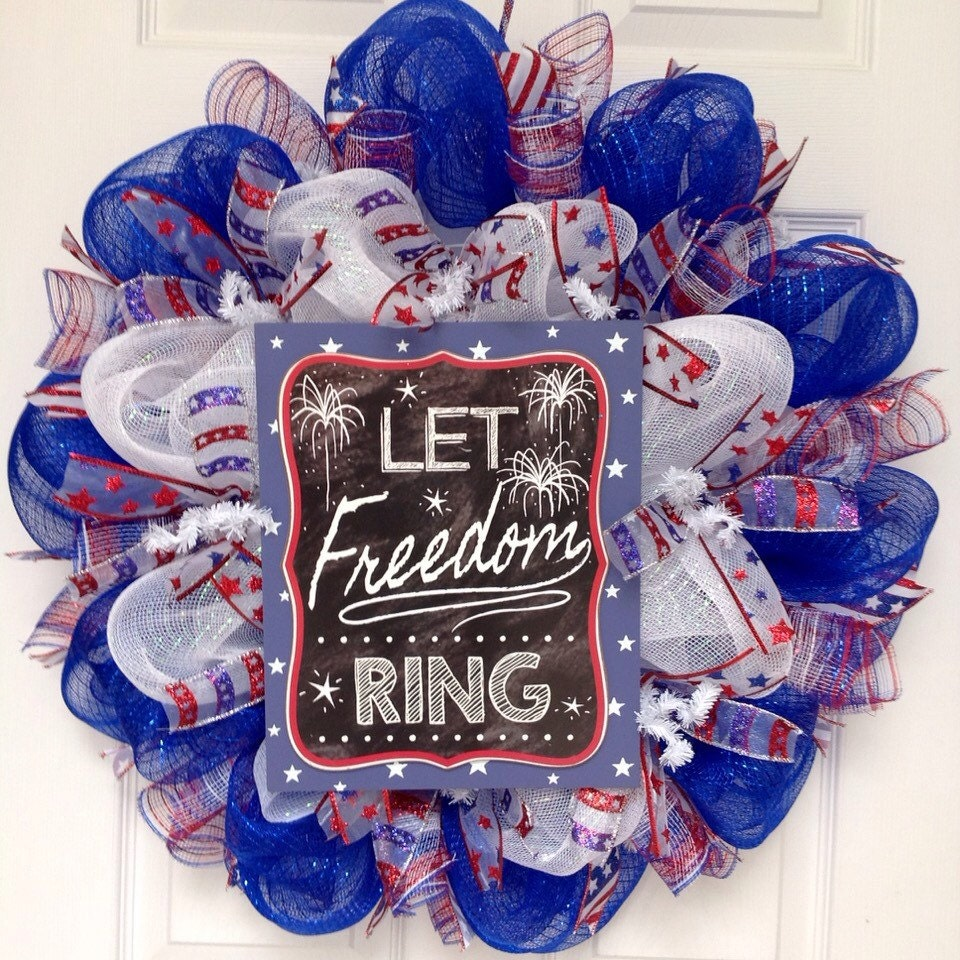 Let Freedom Ring Sign For Wreath