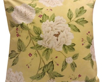 Sanderson Peony Tree Citrus Yellow Cushion Cover