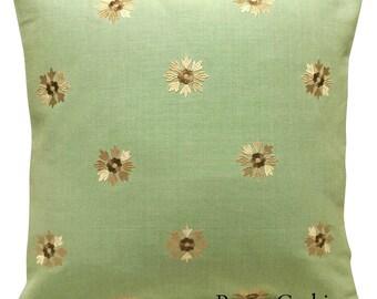 Sanderson Calliope Floral Embroidery Eggshell & Neutral Cushion Cover