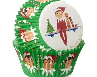 Elf on the Shelf Wilton Standard Christmas Cupcake Liners Baking Cups Muffin Cups - Elf Cupcake Liners